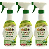Veggie Wash Organic Fruit and Vegetable Wash, Pack of 3, 16-Fl oz Each