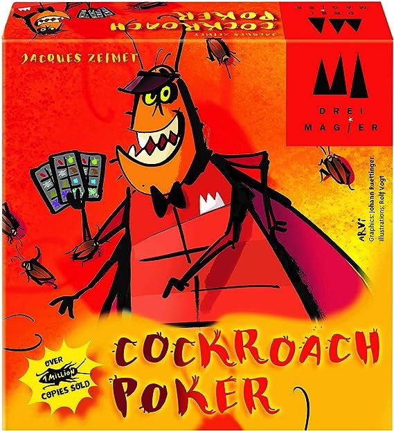 Coiledspring Games- Three Magicians Poker Card Game by Juego de Cartas, Color Naranja (CSG-Cockroach): Amazon.es: Juguetes y juegos