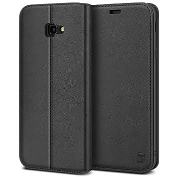 BEZ Funda Samsung J4 Plus, Carcasa Funda Piel con Carcasa Interna de TPU Compatible para Samsung Galaxy J4 Plus, Libro de Cuero con Tapa y Cartera, ...