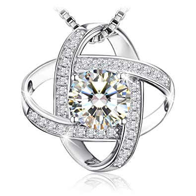 Necklace, Sterling Silver 5A Cubic Zirconia Pendant Necklace J.Rosée Fine  Jewelry For Women