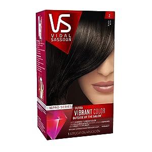 Vidal Sassoon Pro Series Hair Color, 2 Black, 1 Kit (PACKAGING MAY VARY)