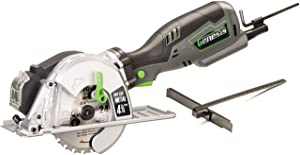 """Genesis GMCS547C 5.8 Amp, 4-3/4"""" Control Grip Compact Circular Saw for Metal Cutting with chip collector and Metal Cutting Blade"""