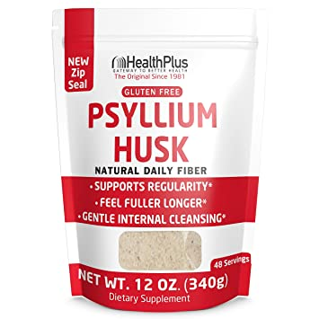 Amazoncom Health Plus Pure Psyllium Husk Bags 12 Ounces 48