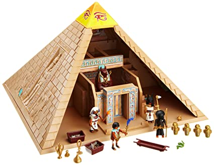 amazon com playmobil 4240 romans egyptians set pyramid toys games