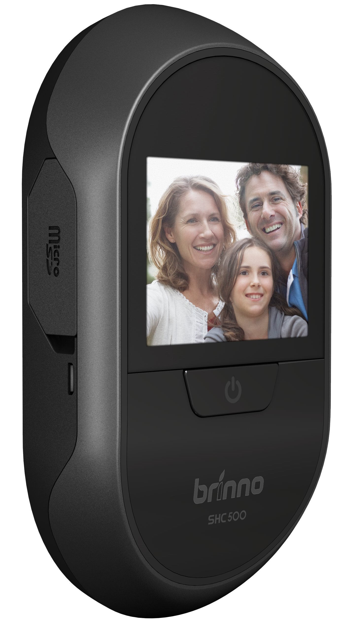 Brinno Front Door PeepHole Security Camera - Easy to Install - Theft Proof - Supieror Battery Life - No Smartphone Necessary- Black (SHC500)
