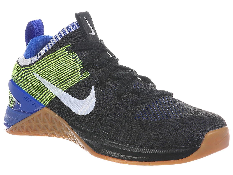 NIKE Men's Roshe Two Flyknit V2 Running Shoe B0792NLB51 11.5 D(M) US|Black/White/Racer Blue/Volt