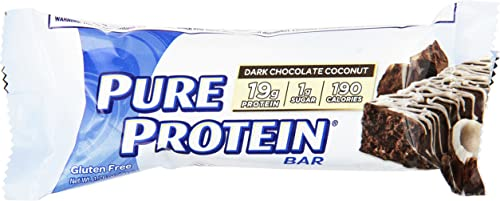Pure Protein Nutrition Bar, Dark Chocolate Coconut, 1.76 Ounce 6 Count