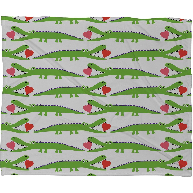 Deny Designs Andi Bird Alligator Love Fleece Throw Blanket, 50 x 60 13628-flemed