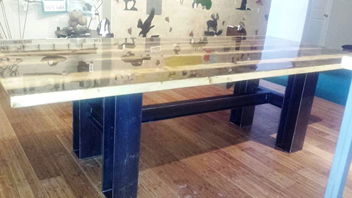 Amazon.com: Modern Industrial Rustic 9 Foot Dining Table ...