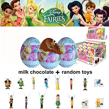 Amazon com: SET OF 3 SURPRISE EGG DISNEY FAIRIES with 3D TOY For