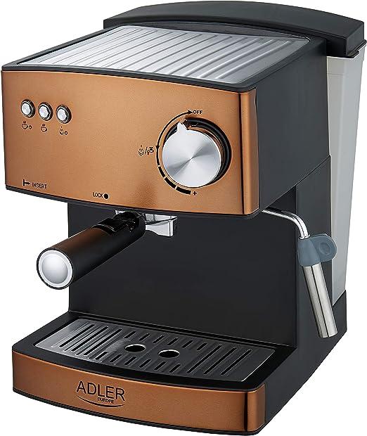 Adler cafetera espresso, 850 W, aluminio, Dorado: Amazon.es: Hogar