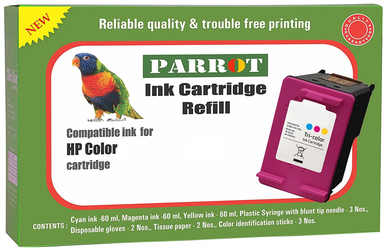 Parrot Ink Refill kit for HP Color Ink Cartridge: Amazon in: Electronics