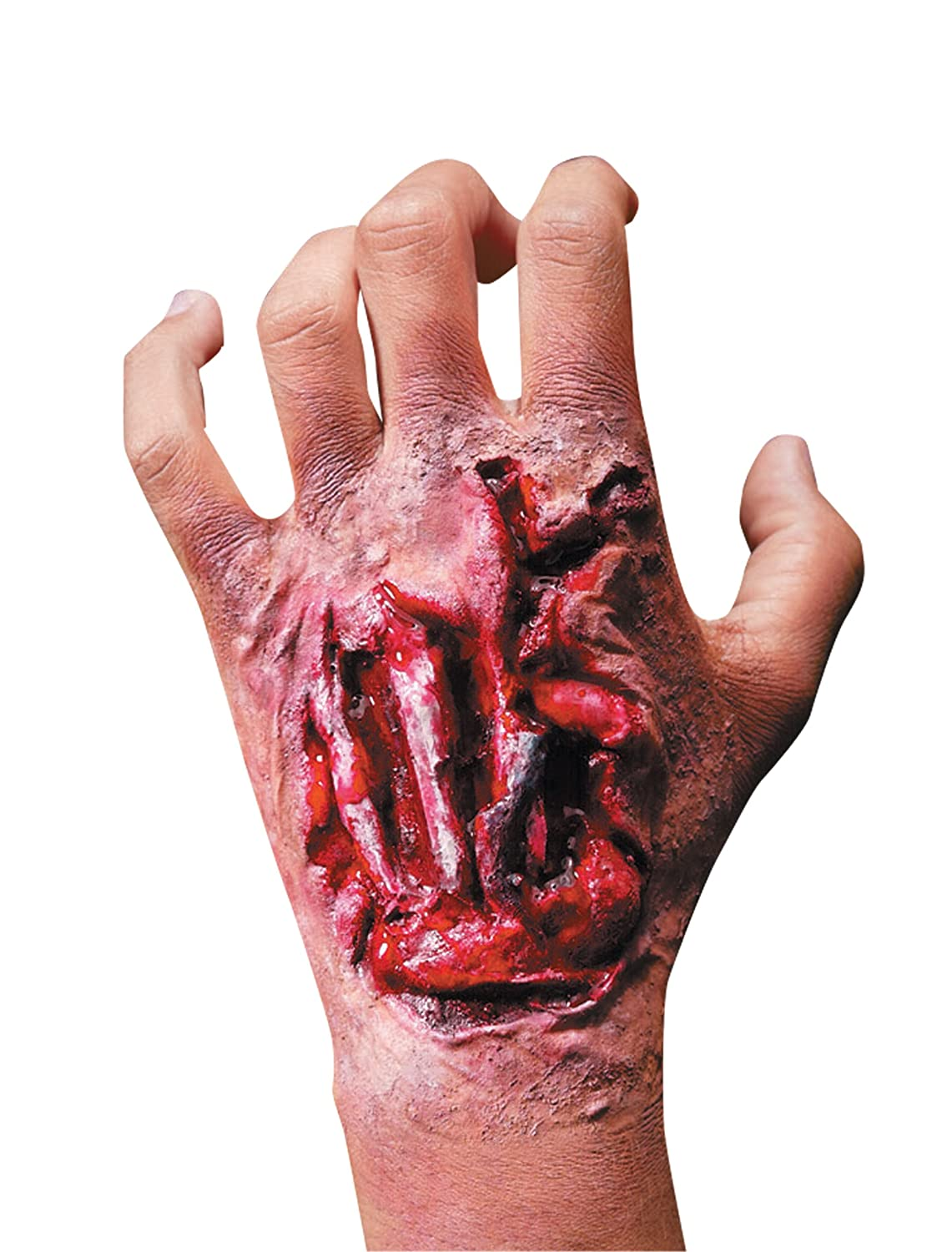 Rubie's Costume Reel F/X Torn Up Hand Wound with Tendons Red One Size Rubies Costumes - Apparel 68729