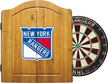 Imperial Officially Licensed NHL Merchandise: Dart Cabinet Set With Steel  Tip Bristle Dartboard And Darts