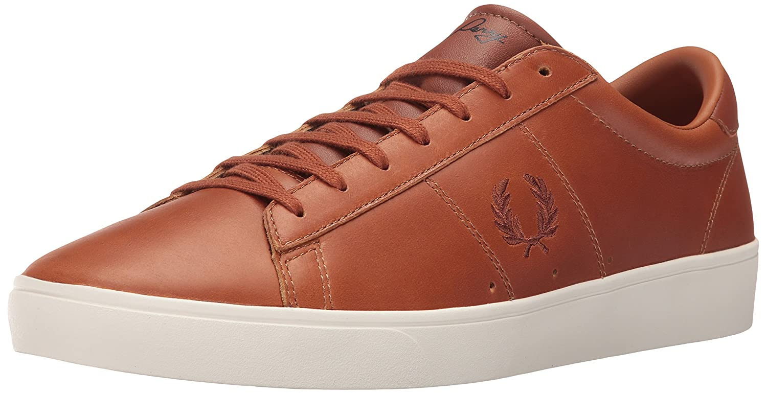 Fred Perry Spencer Waxed Leather Sneaker B01DTI2WHS 11 D UK (12 US)|Tan