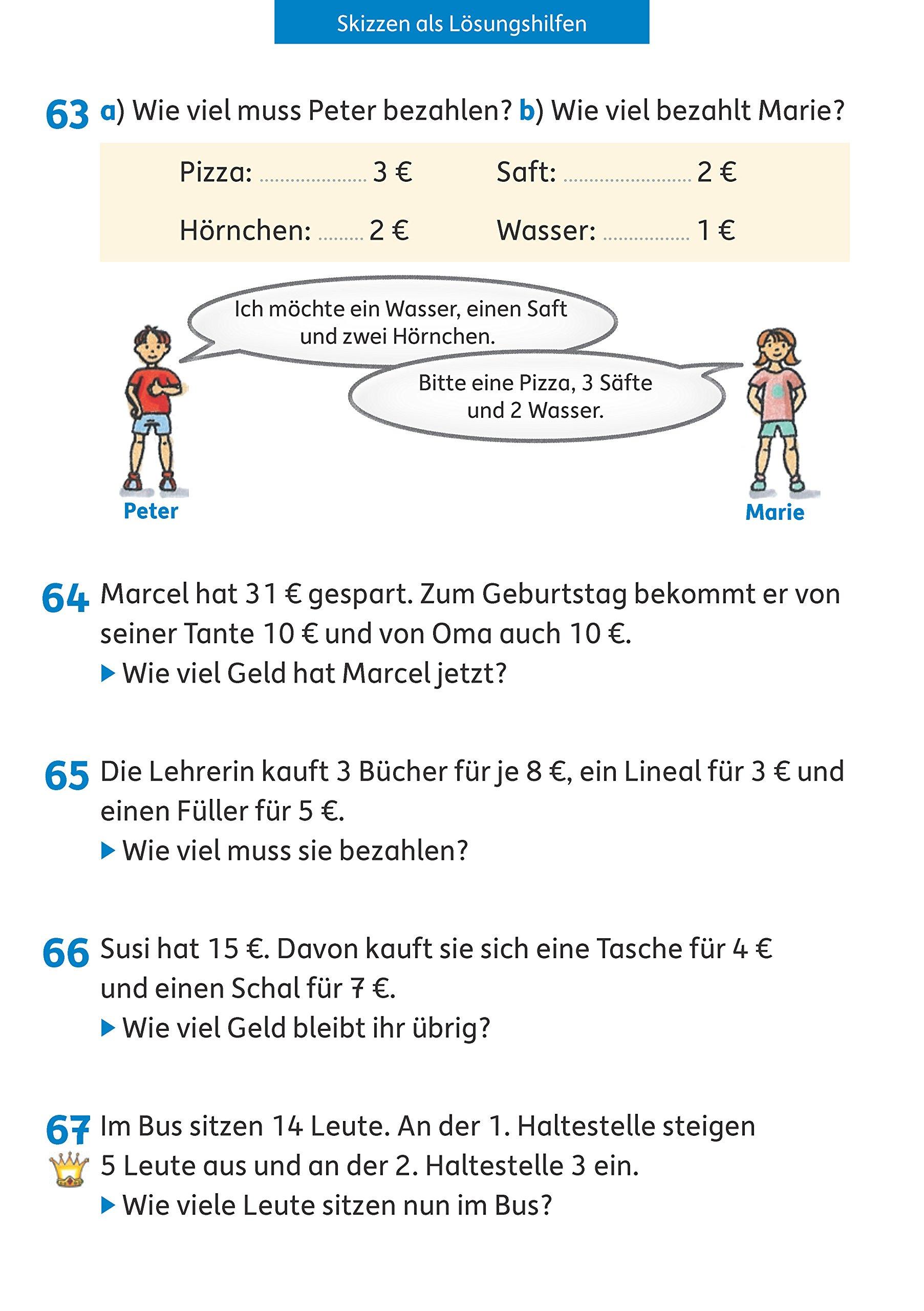 Textaufgaben 2. Klasse: Sachaufgaben - Übungsprogramm mit Lösungen ...