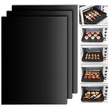 hyhjh horno maletero alfombrilla de 3 piezas de cocina de silicona para hornear antiadherente para horno