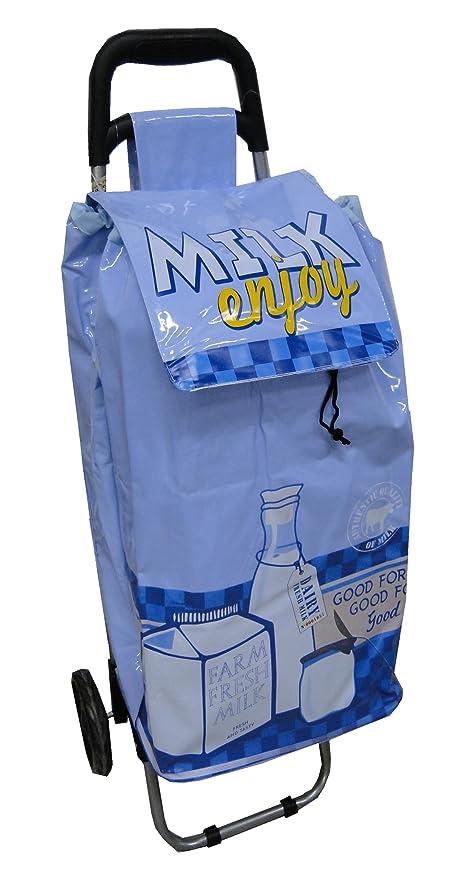 CMP Vintage - Carro de la compra impermeable, diseño de anuncio de leche antiguo