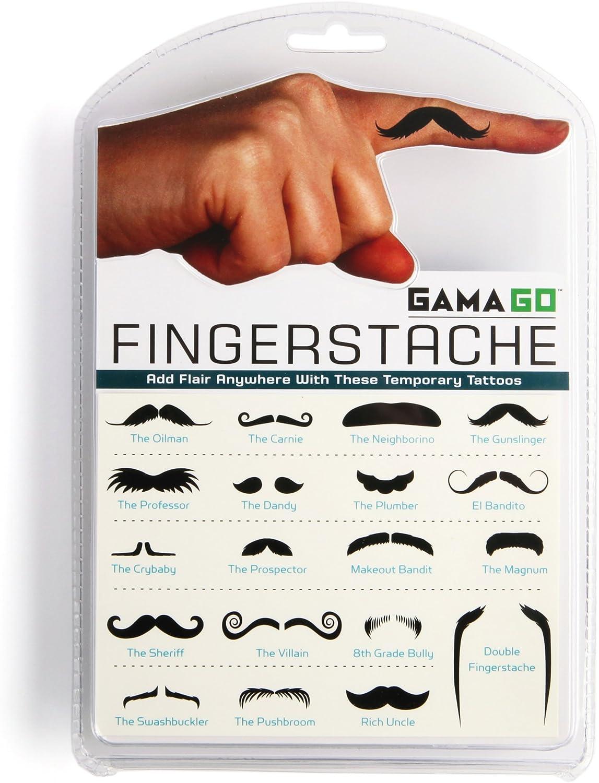 Gama Go Fingerstache - Tatuajes temporales, diseño de bigotes ...