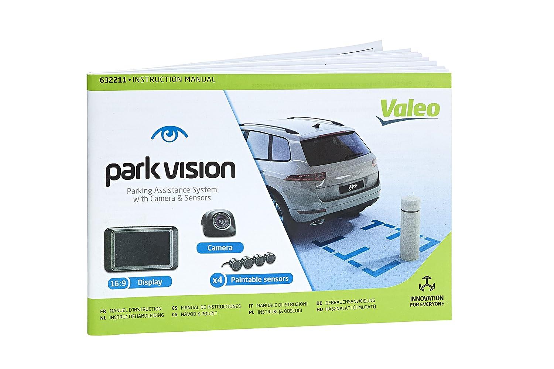 Artikelnr VALEO E5DC4C parkvision 632210 Schwarz Einparkhilfe mit Kamera und TFT-Display inklusive 4 lackierbare Sensoren zum Heckeinbau