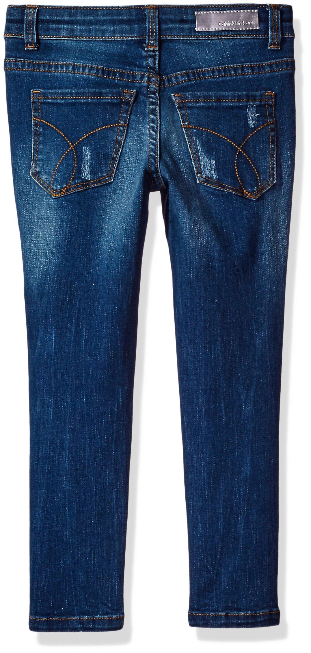 Calvin Klein Girls' Toddler Patchwork Ankle Skinny Jean, Pathwork, 3T by Calvin Klein Jeans (Image #2)
