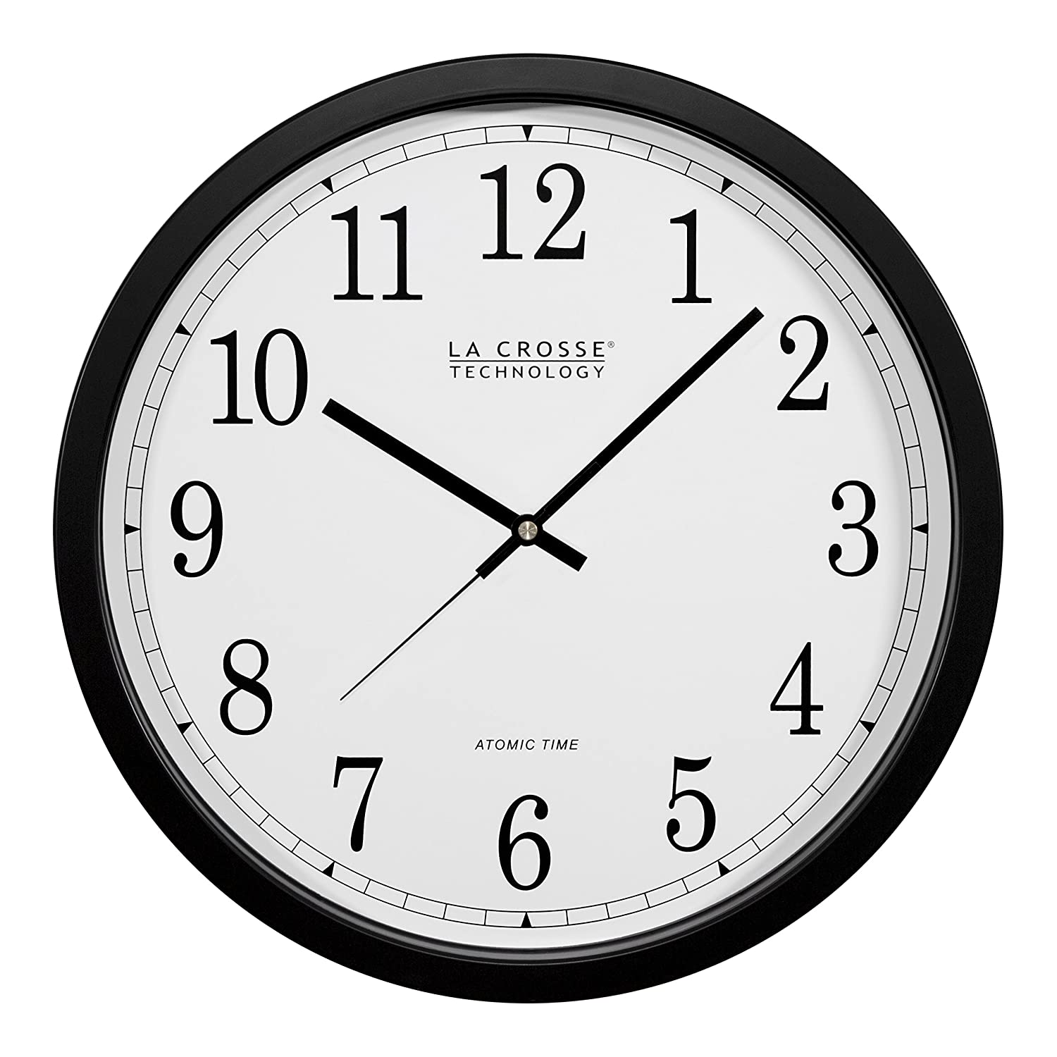Shop amazon wall clocks la crosse technology wt 3143a int 14 inch atomic wall clock black amipublicfo Gallery