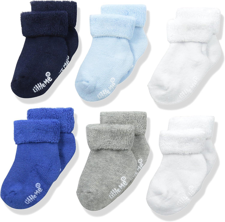 Little Me Baby Boys' 6 Pack Socks: Clothing