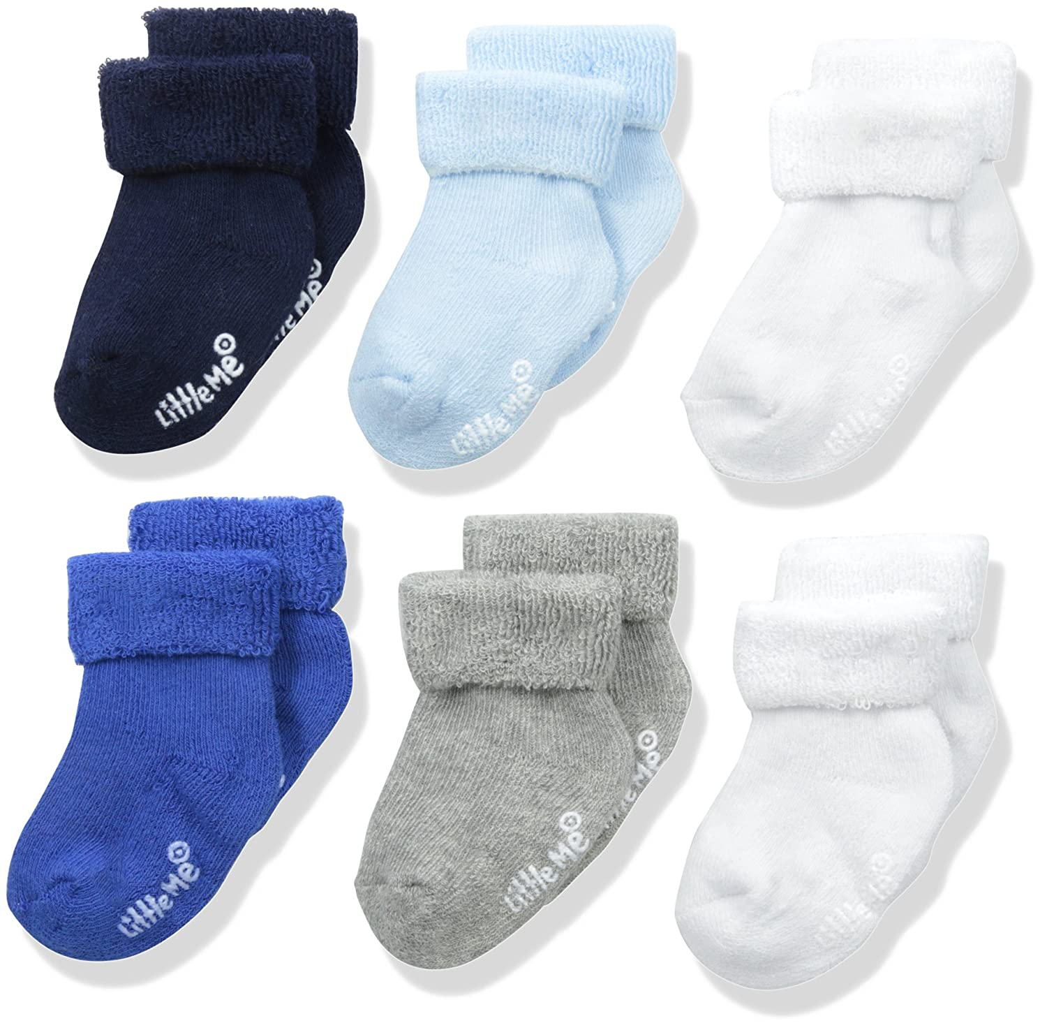 Little Me Baby Boys' 6 Pack Socks Little Me Baby Accessories LM831671S1
