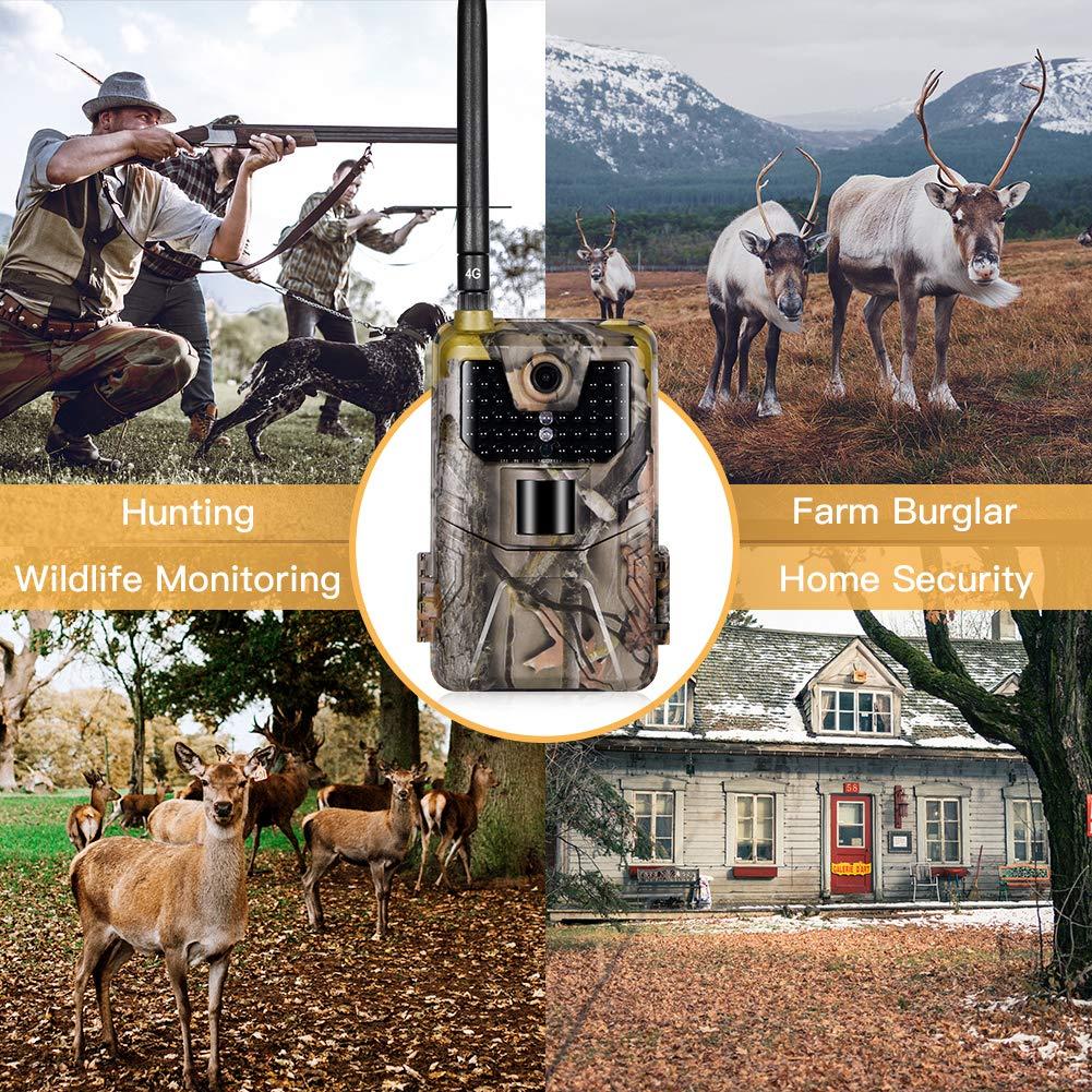 Scheda SD Inclusa SUNTEKCAM Suntek 4G Fotocamera Caccia Fototrappola 16MP 1080P Wildlife Camera Impermeabile IP66 Trail Camera Macchine Fotografiche da Caccia 900 LTE Visione Notturna Invisibile