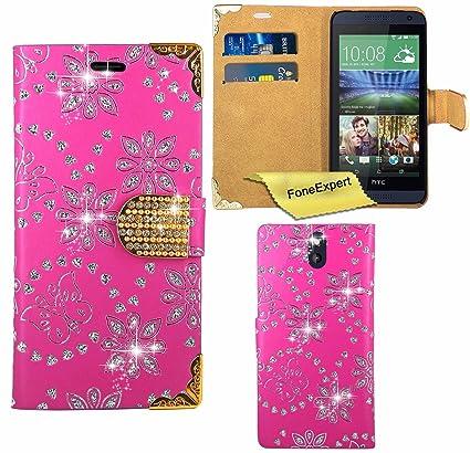 HTC Desire 610 Funda, FoneExpert® Diamante Bling Wallet Flip ...