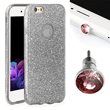 45798de3d68 purpurina Carcasa para iPhone 6 Plus/6S Plus EGO® Back Case Bumper  brillante transparente