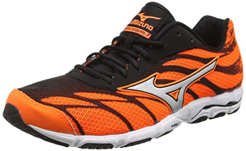 Mizuno Wave Hitogami 3, Men's Running Shoes, Orange (Clownfish/Silver/Black