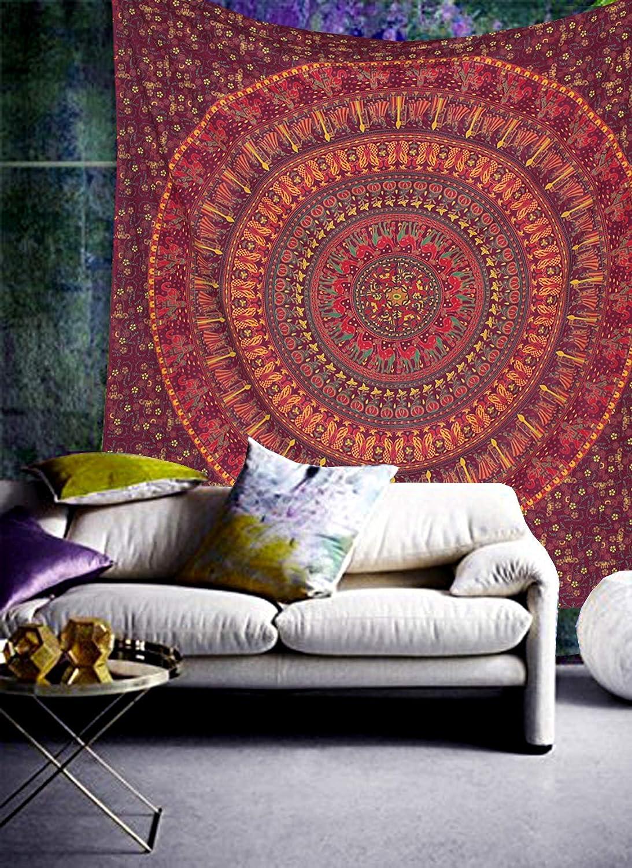Color : A36, Size : 210x148CM Zljljlj Tapisserie Mandala Indien Hippie Accueil d/écoratif Tenture Boh/ème Beach Mat Mat Couvre-lit Table Cloth 210x148CM