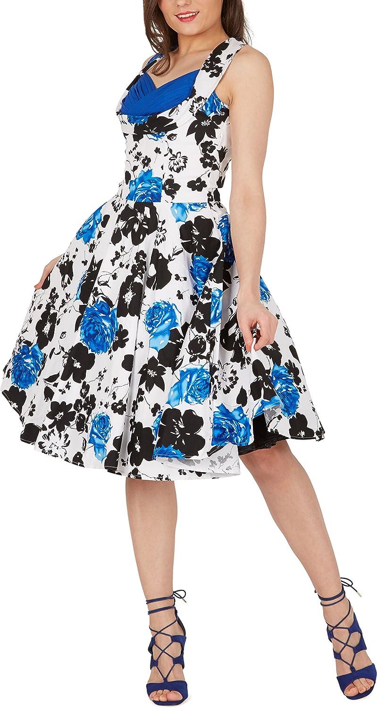 BlackButterfly Aura Serenity Vintage Rockabilly Floral 1950s Dress: Amazon.co.uk: Clothing