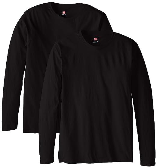 cf44e8c30 Hanes Men's Long-Sleeve Premium T-Shirt (Pack of 2) | Amazon.com