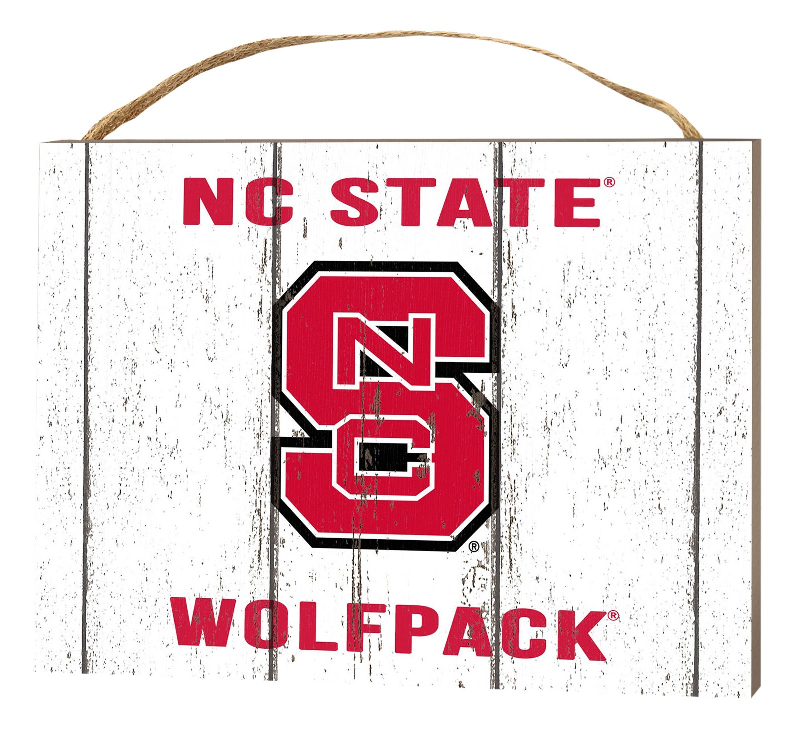KH Sports Fan 4''X5.5'' North Carolina State Wolfpack Weathered Logo Small College Plaque