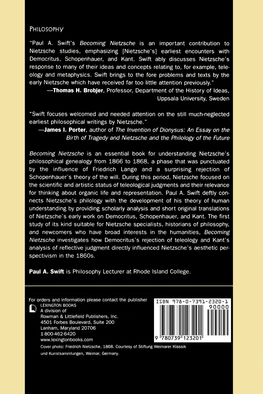 becoming nietzsche early reflections on democritus schopenhauer becoming nietzsche early reflections on democritus schopenhauer and kant paul a swift 9780739123201 com books