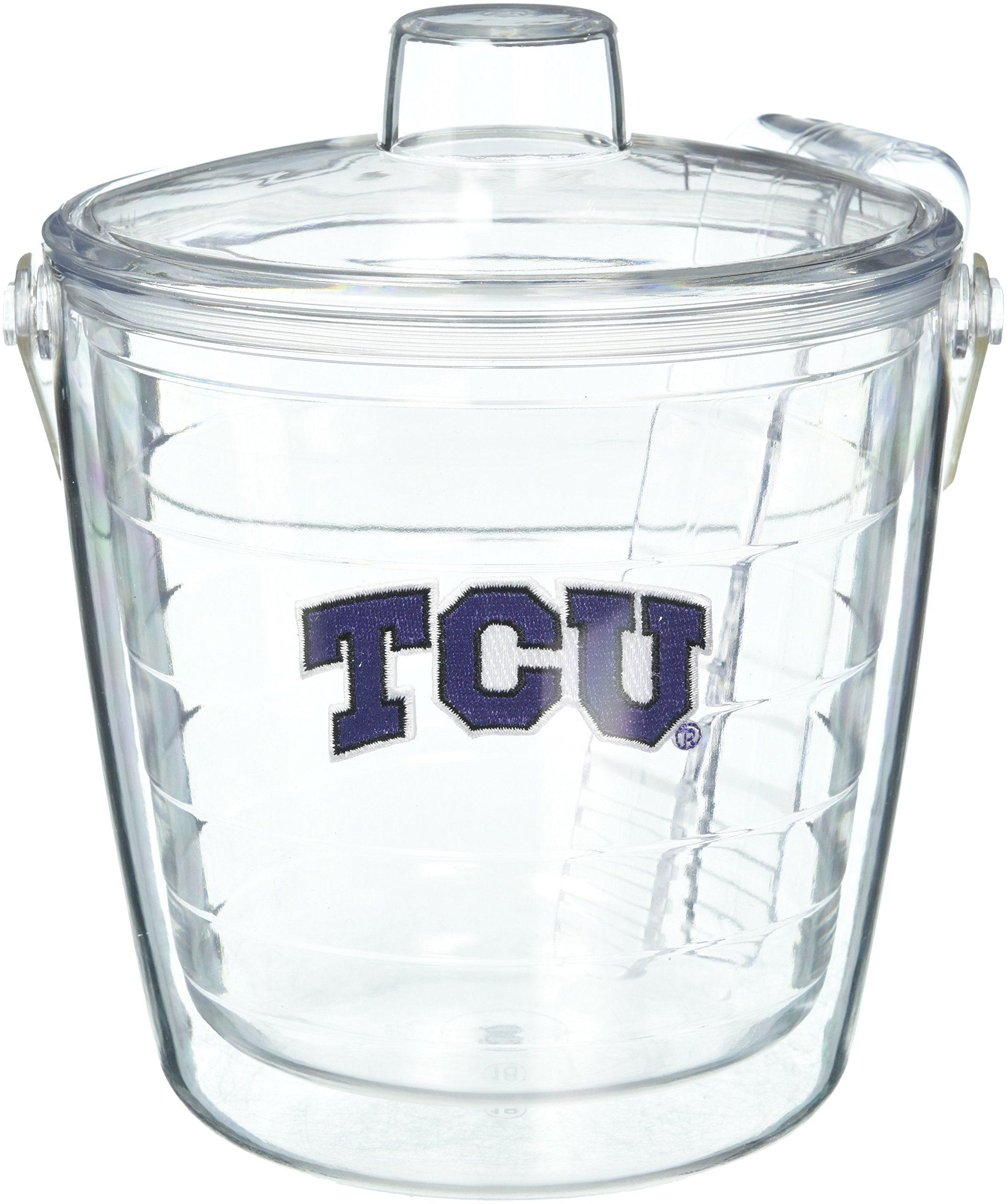 Tervis 1053491 TCU Horned Frogs Logo Ice Bucket with Emblem and Clear Lid 87oz Ice Bucket, Clear