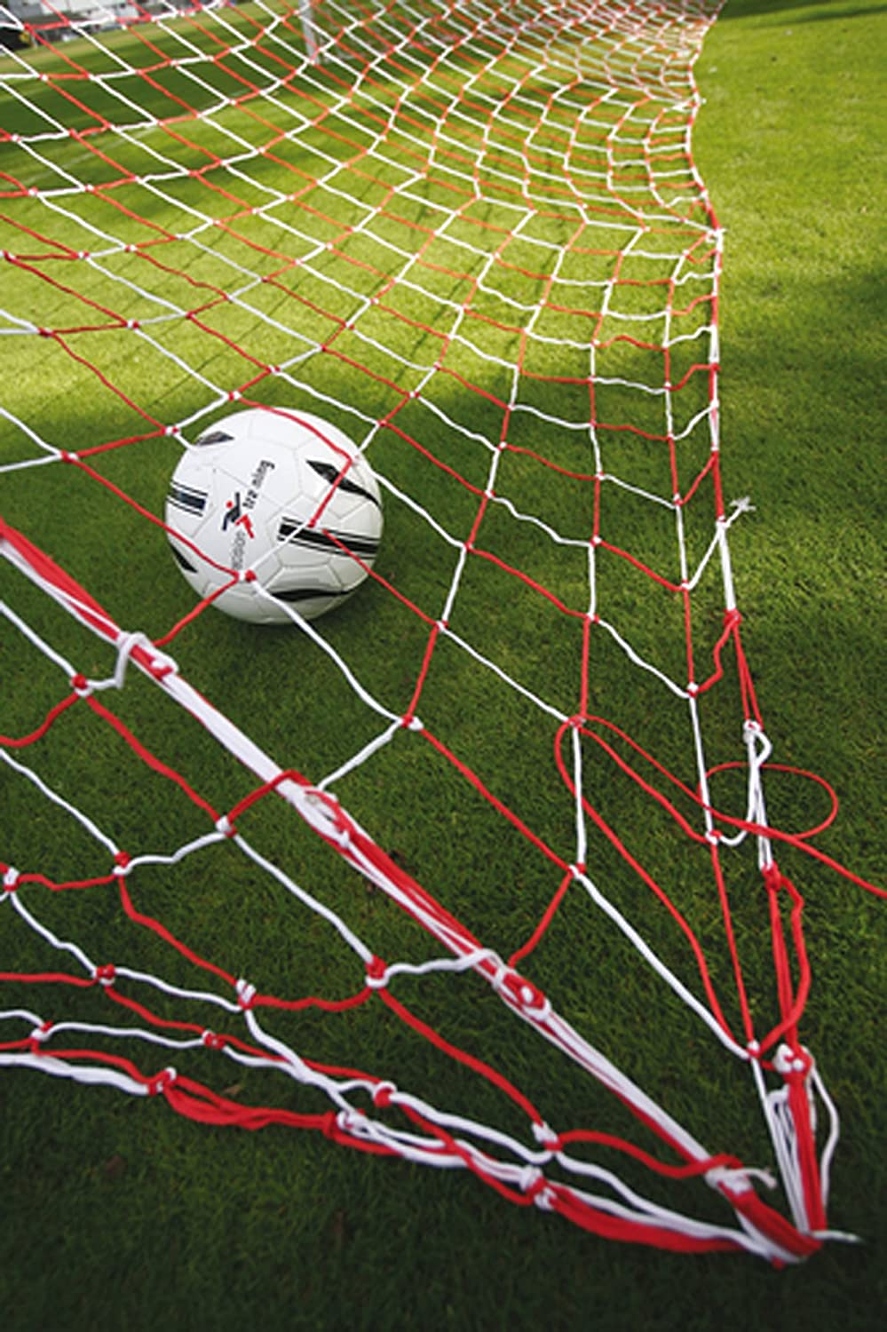 Precision Training Soccer Goalnets : 3.5mm Knotted Red-white