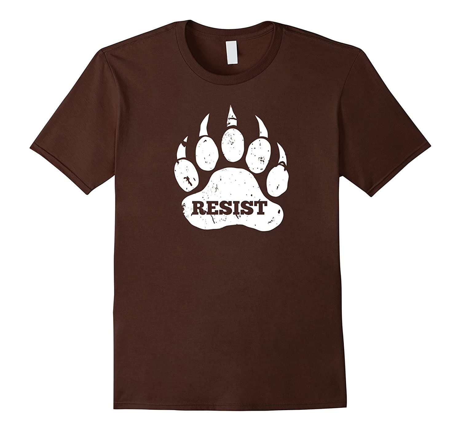Resist Distressed Bear Paw Protect National Parks T-Shirt-TH