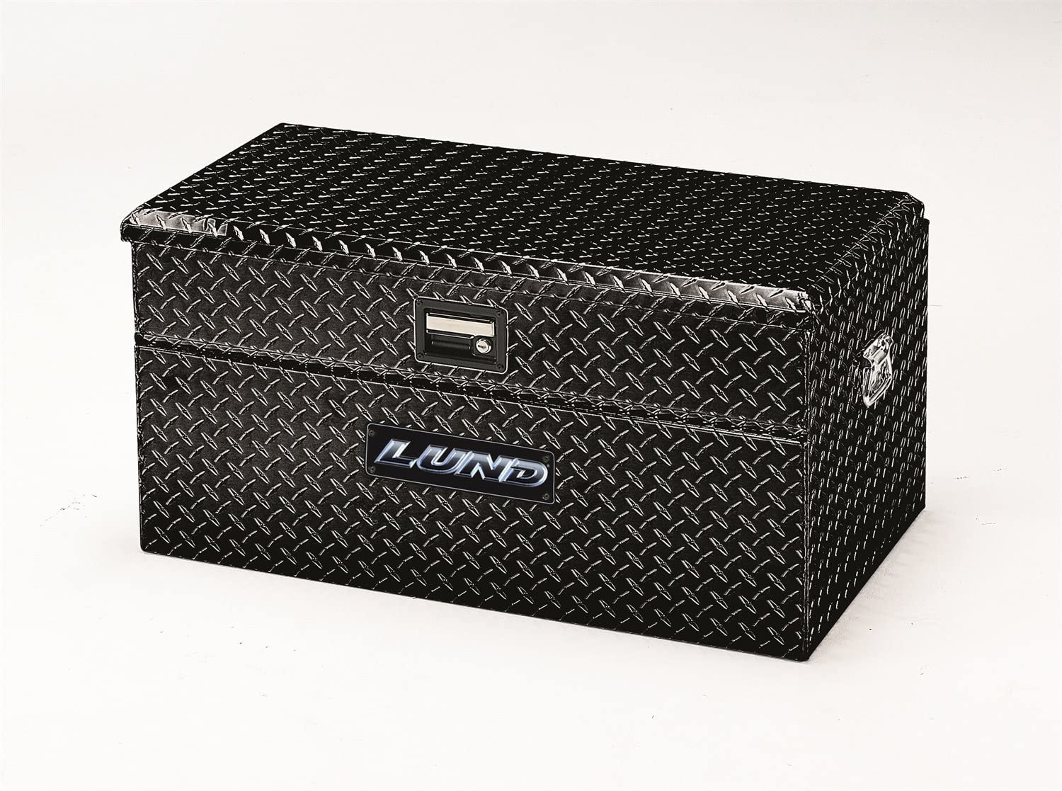 Lund 79460WB 60-Inch Aluminum Wide Flush Mount Truck Tool Box Black Diamond Plated