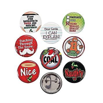 Amazon.com: 24 (2 Dozen) ~ Funny Christmas Sayings Button Pins ...