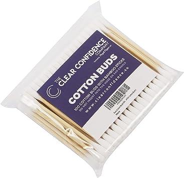 100% Puro Bastoncillos de algodón (con plástico Palos) - Plateado ...