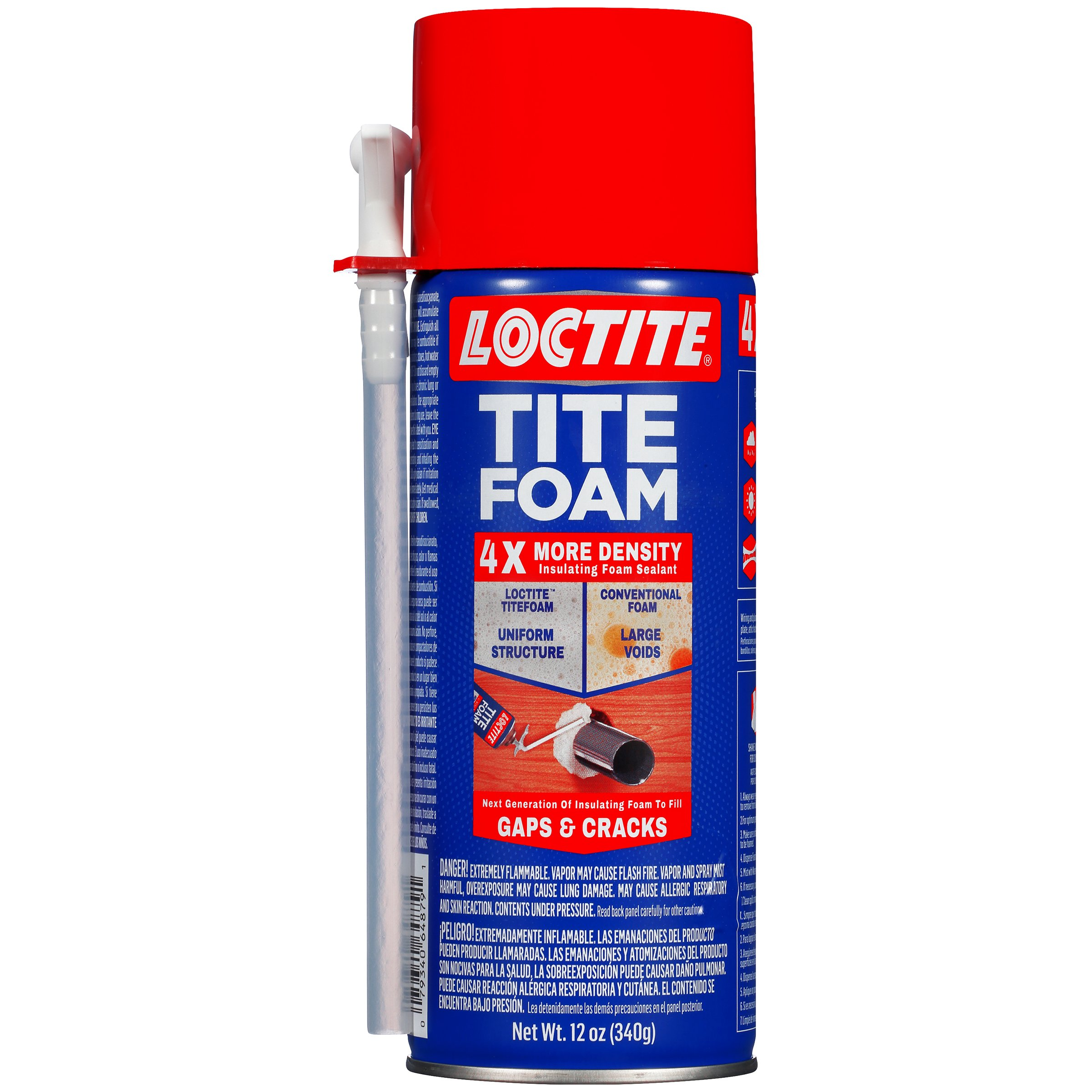 Loctite TITEFOAM Insulating Foam Sealant, Case of Eight 12 Ounce Cans (2175595-8)