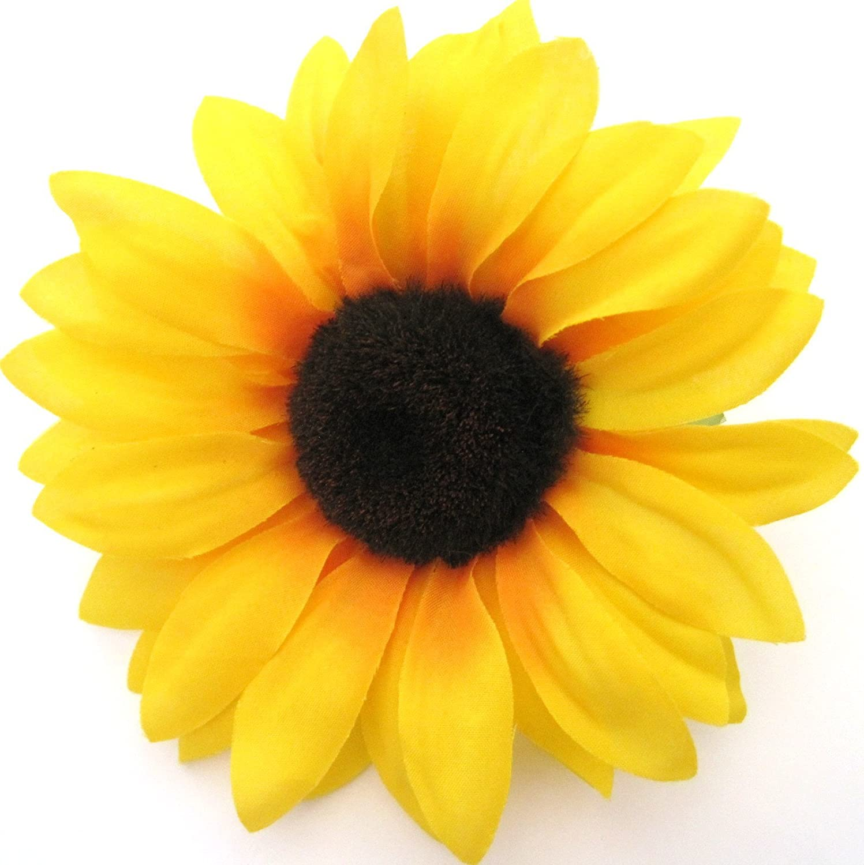 475 Yellow Sunflower Silk Flower Brooch Pin Oe Flower