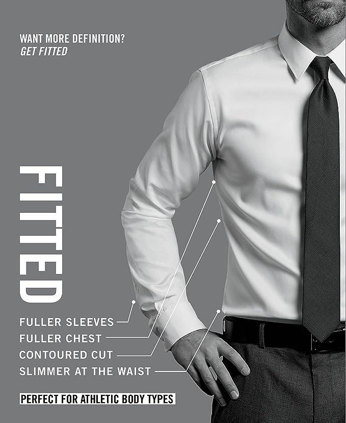 fb24d3afe20 Amazon – Van Heusen Men s Poplin Fitted Solid Point Collar Dress Shirt just   10.49 after Coupon (reg  22.50)! LIMIT 6