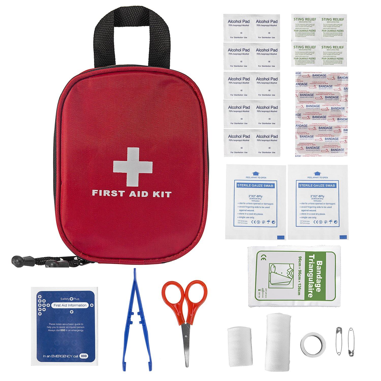 Plusinno Mini Kit de primeros auxilios compacto Bolso médico de emergencia para