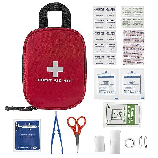 49 opinioni per Plusinno® 31 pezzi Mini Compact Kit di primo soccorso Sacchetto medico di