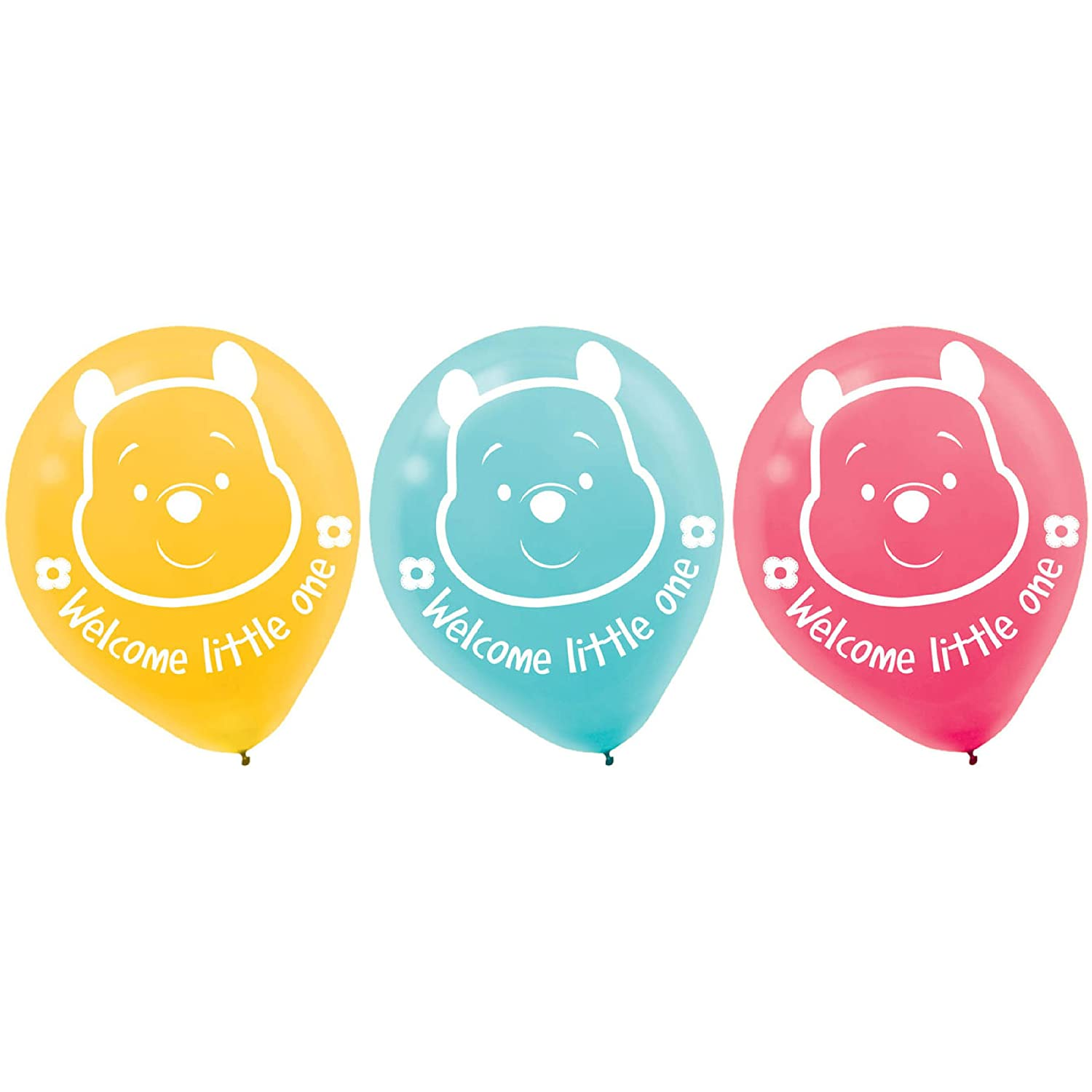 Winnie the Pooh 'Little Hunny' Baby Shower Latex Balloons (15ct)