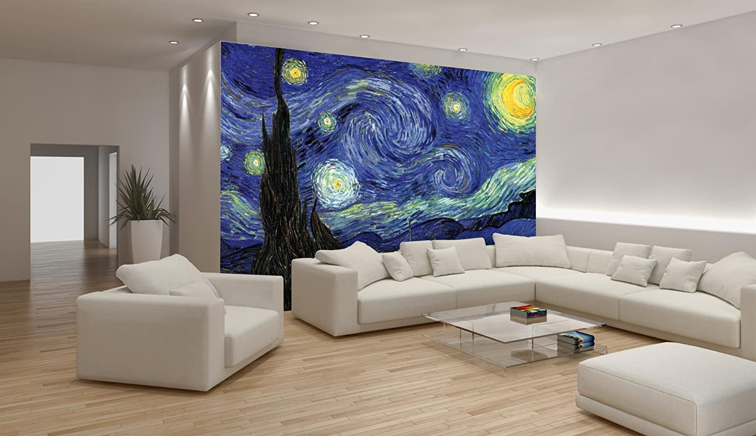 Van Gogh Starry Night Wallpaper Mural Amazon Com